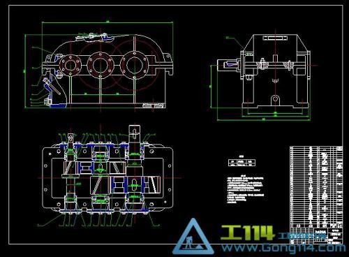 二级减速器箱体cad_二级斜齿轮减速器课程设计CAD装配图下载(320.58K,dwg格式)_建材机械 ...
